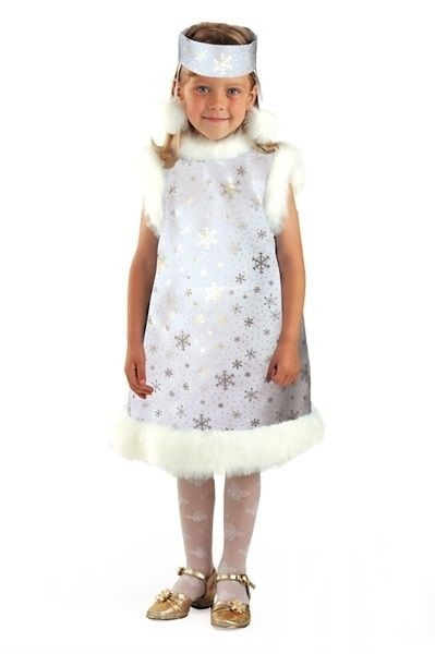 Детский костюм серебристой снежинки (32) детский костюм зимней снежинки 32
