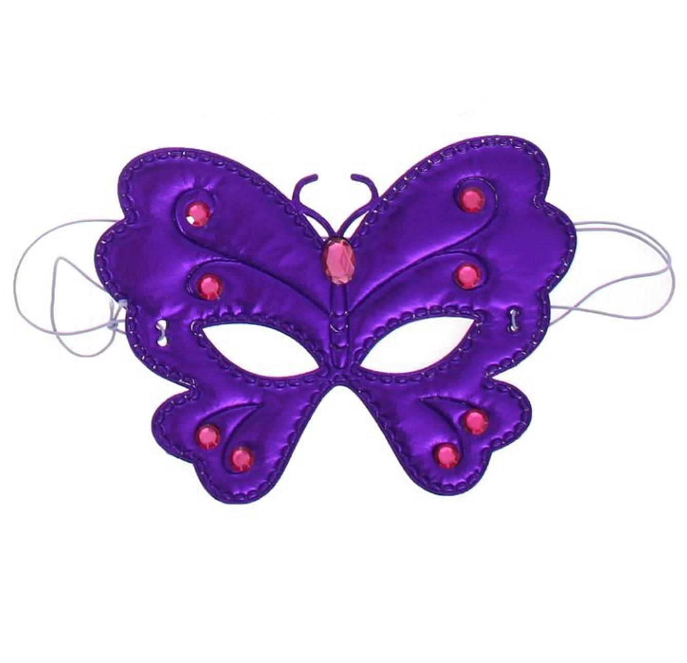 Фиолетовая маска на глаза Бабочка (UNI) маска в форме бабочки оранжевая uni