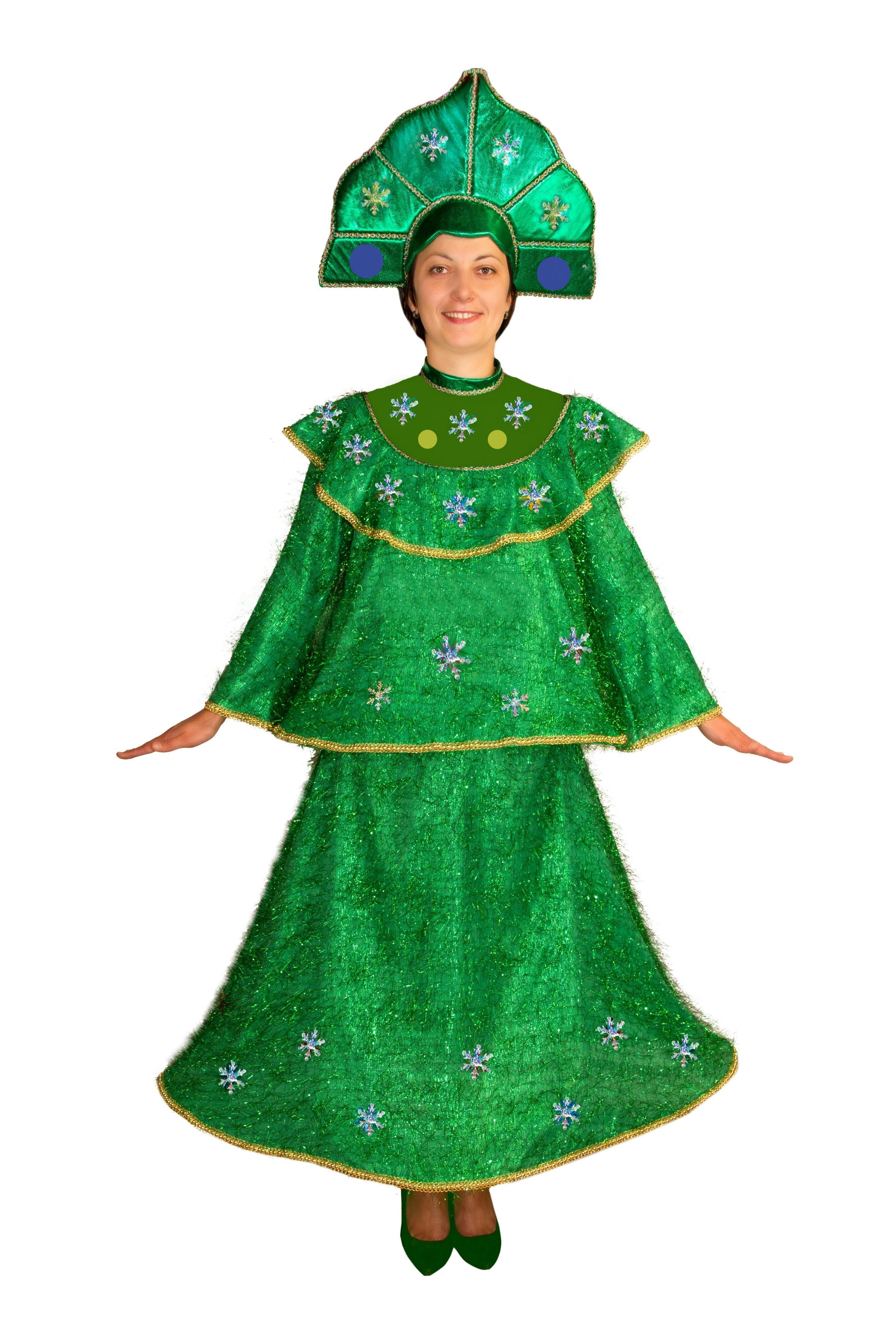 Костюм Новогодней Елки для взрослых (48-50) -  Новогодние костюмы