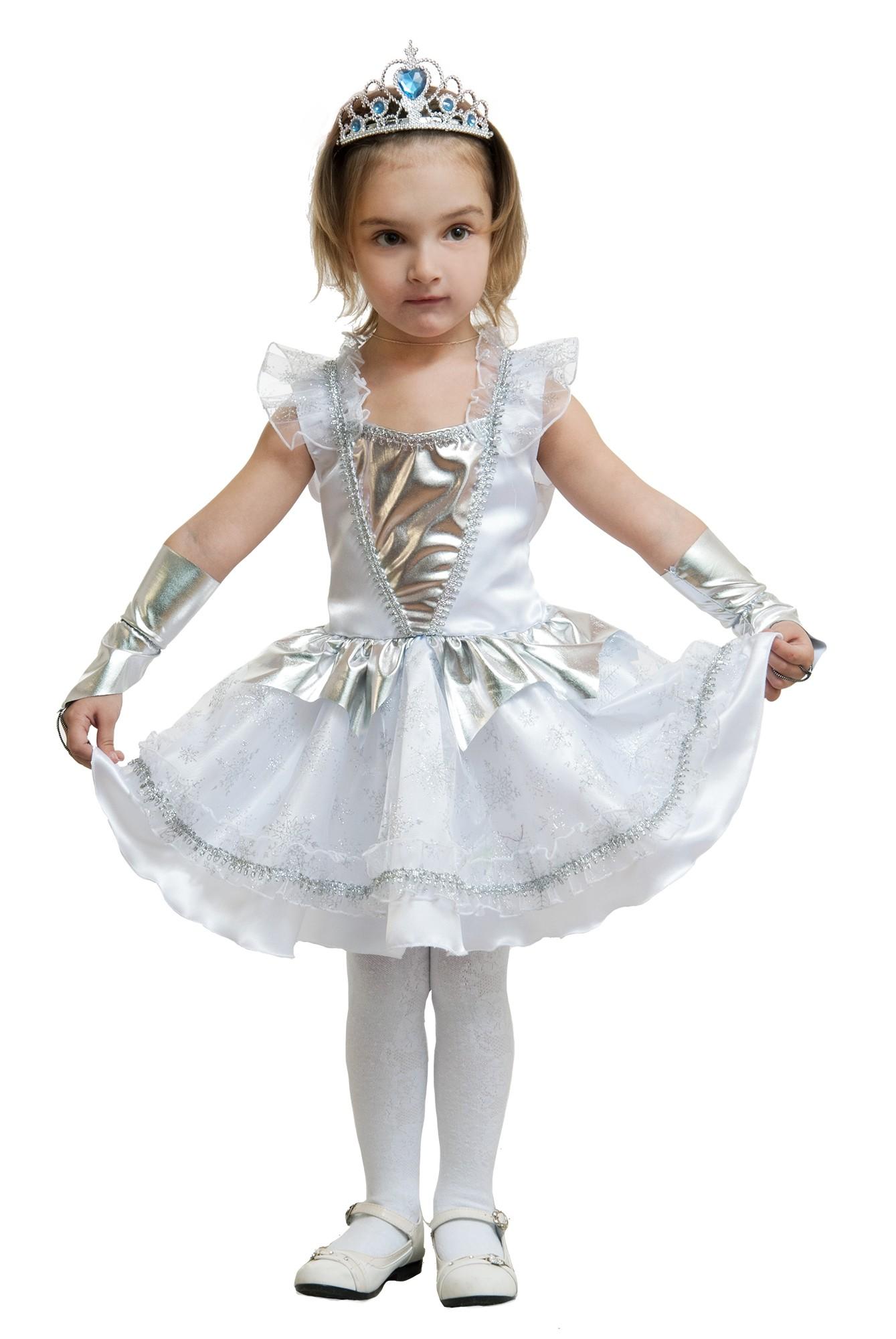 Детский костюм Белой Снежинки (30) - Новогодние костюмы, р.30