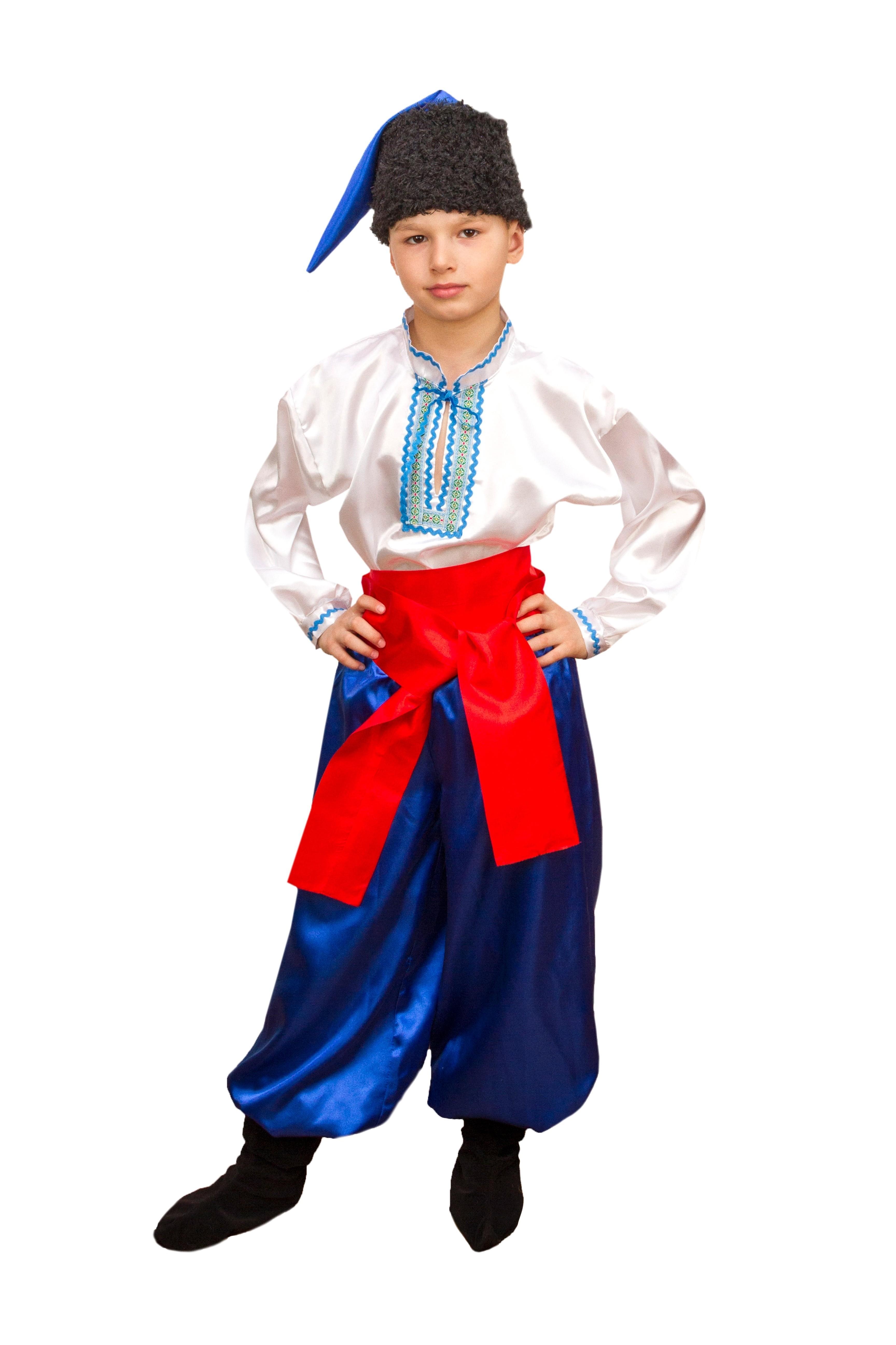 Костюм украинского мальчика (34) детский костюм озорного клоуна 34