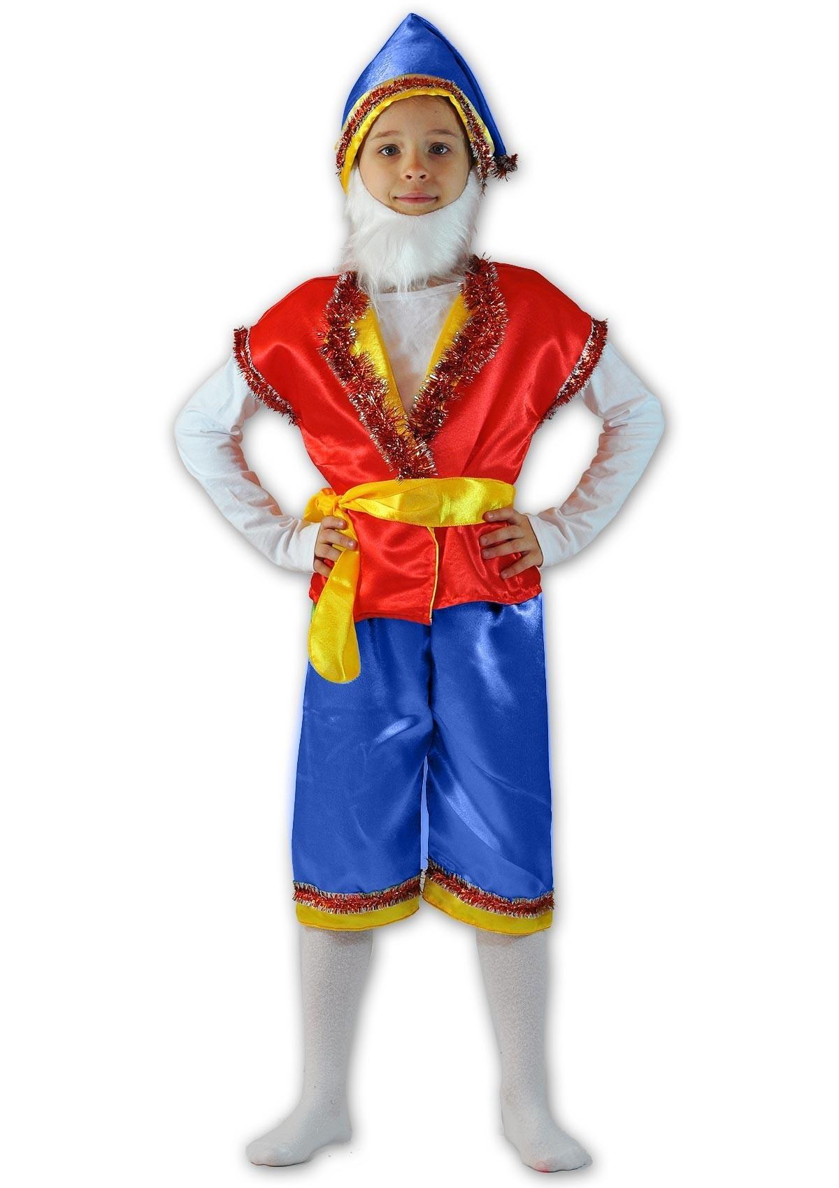 Красно-синий костюм гномика (28) - Сказочные герои, р.28