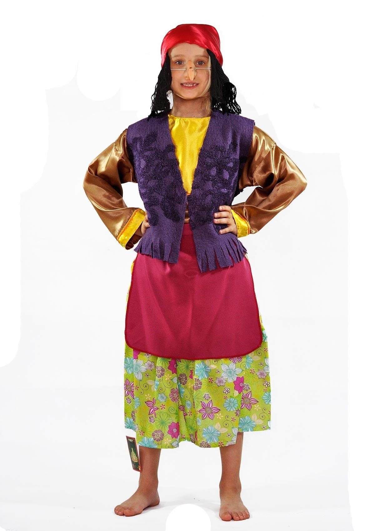 Детский цветочный костюм Бабы Яги (34) - Русские народные сказки, р.34
