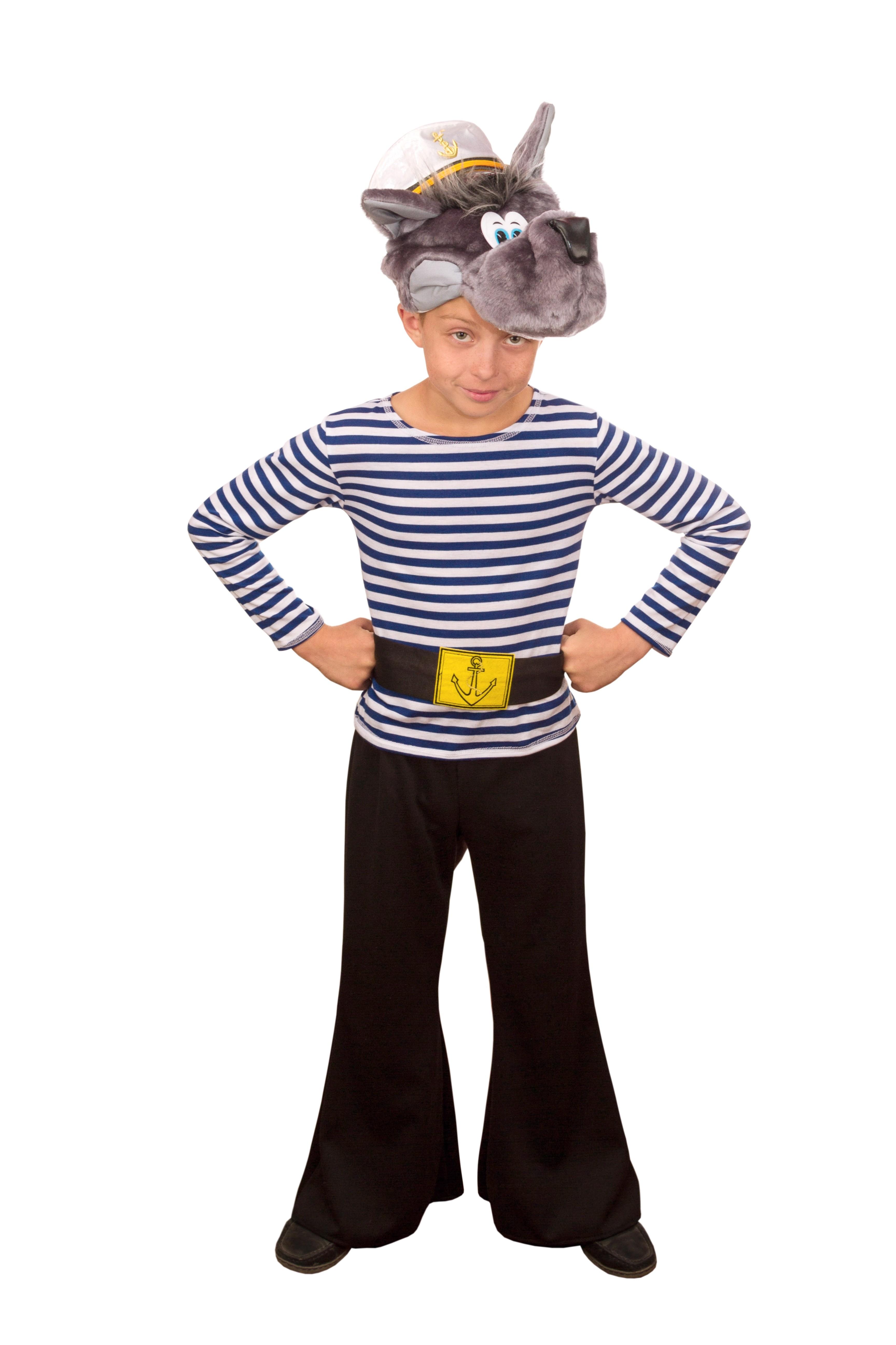 Детский костюм волка-моряка (34) фуражка моряка accessories