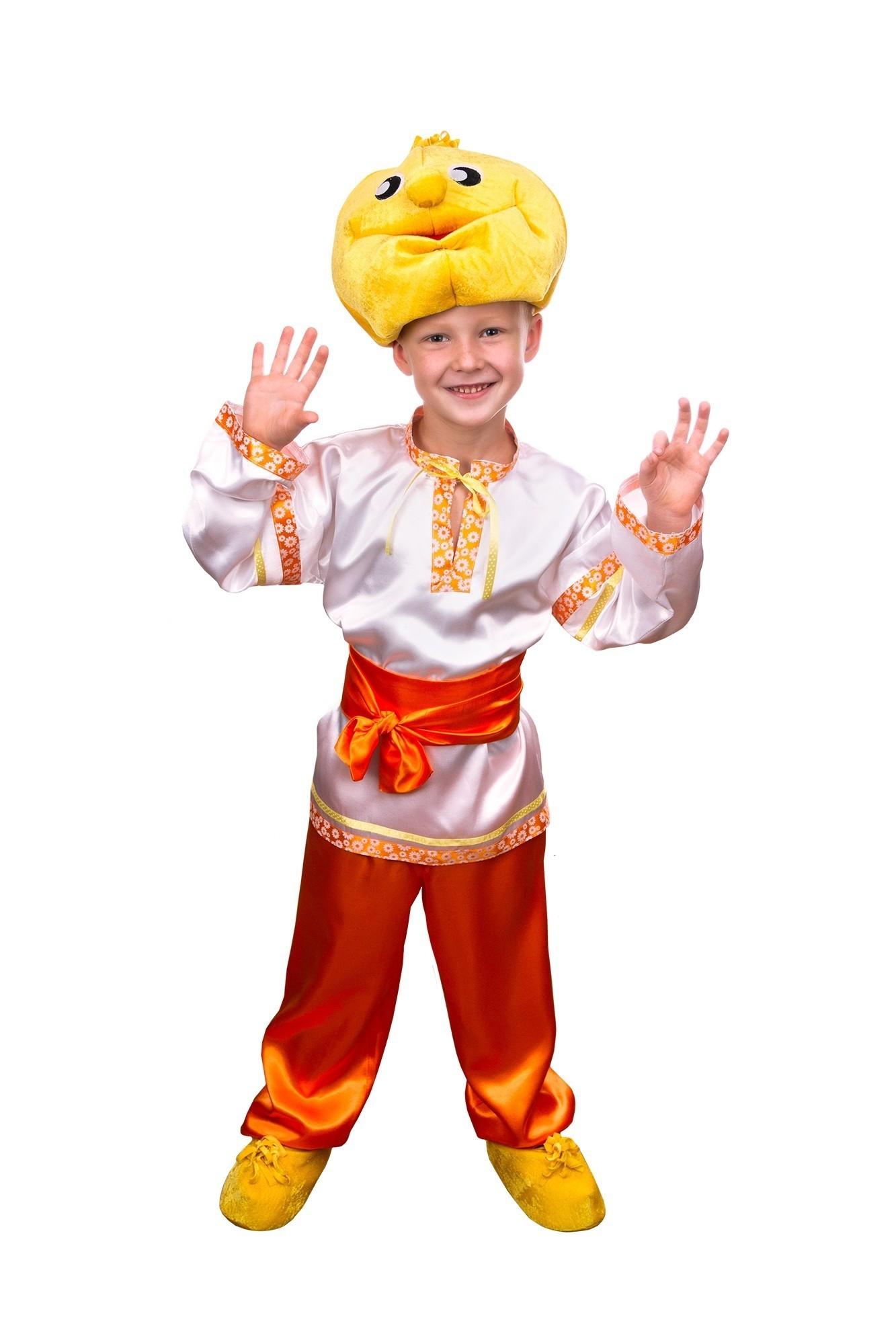 Детский костюм Колобка (28-30) - Русские народные сказки, р.28-30