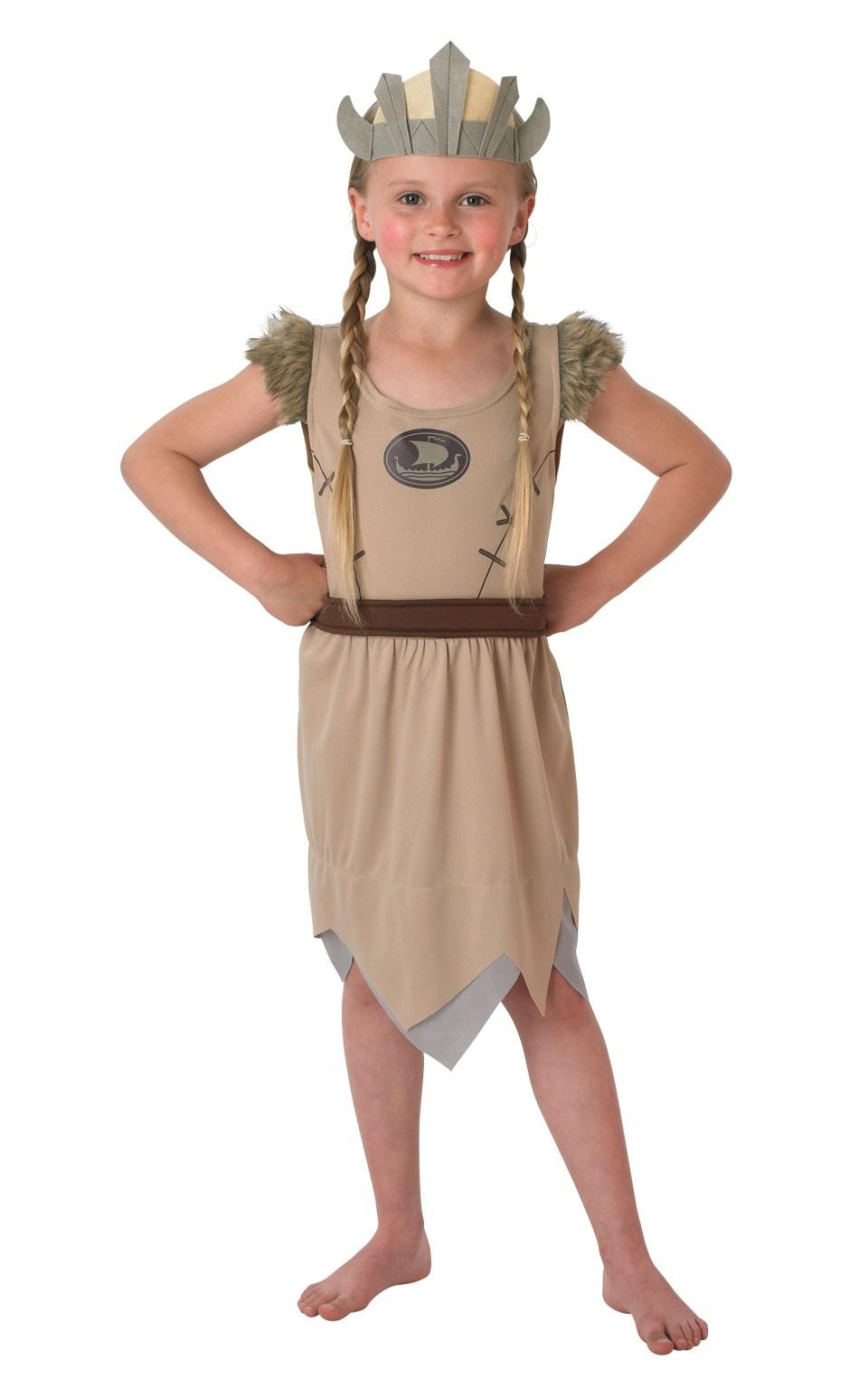 Костюм девочки викинга (S) - Исторические костюмы