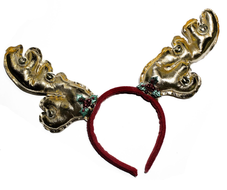 Золотистые оленьи рожки с бубенцами (UNI) трынцы брынцы бубенцы
