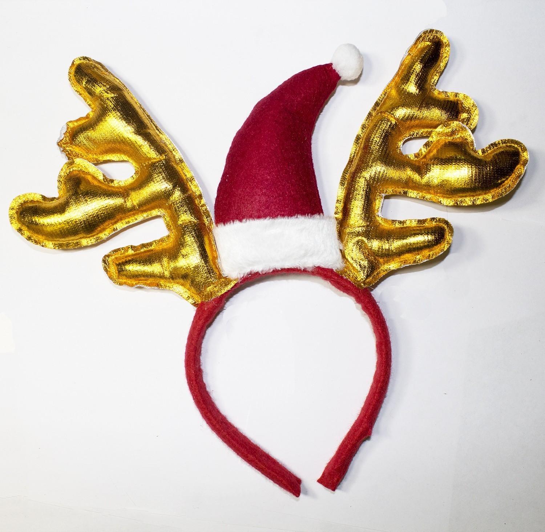 Золотистые новогодние оленьи рожки (UNI)