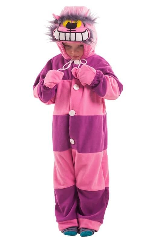 Детская пижама-кигуруми Лунный чеширский кот (26) детская пижама кигуруми хрюшка 26