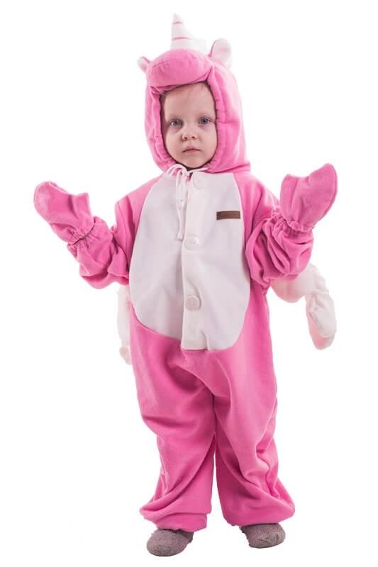Детская пижама-кигуруми Розовый Единорог (26) - Кигуруми, р.26