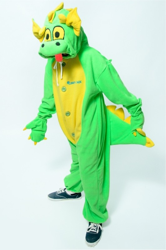Детская пижама-кигуруми Зеленый Дракон (26) детская пижама кигуруми хрюшка 26