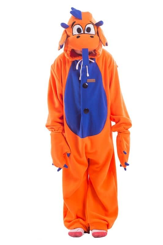 Детская пижама-кигуруми Оранжевый Дракон (26)