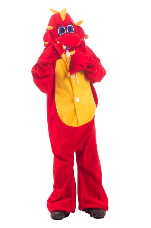 Детская пижама-кигуруми Рубиновый дракон (26) детская пижама кигуруми хрюшка 26