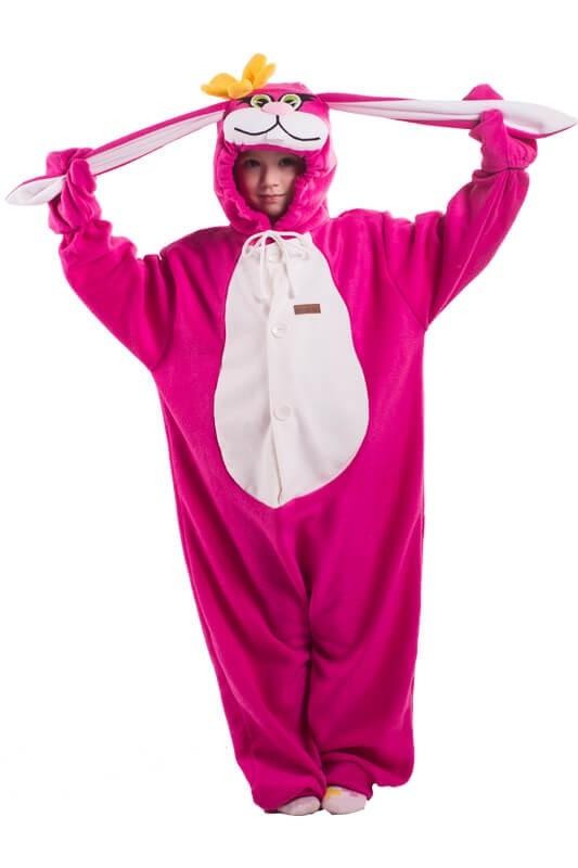 Детская пижама кигуруми Розовый заяц (26)