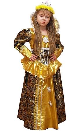 Костюм королевы золотой (30) - Сказочные герои, р.30