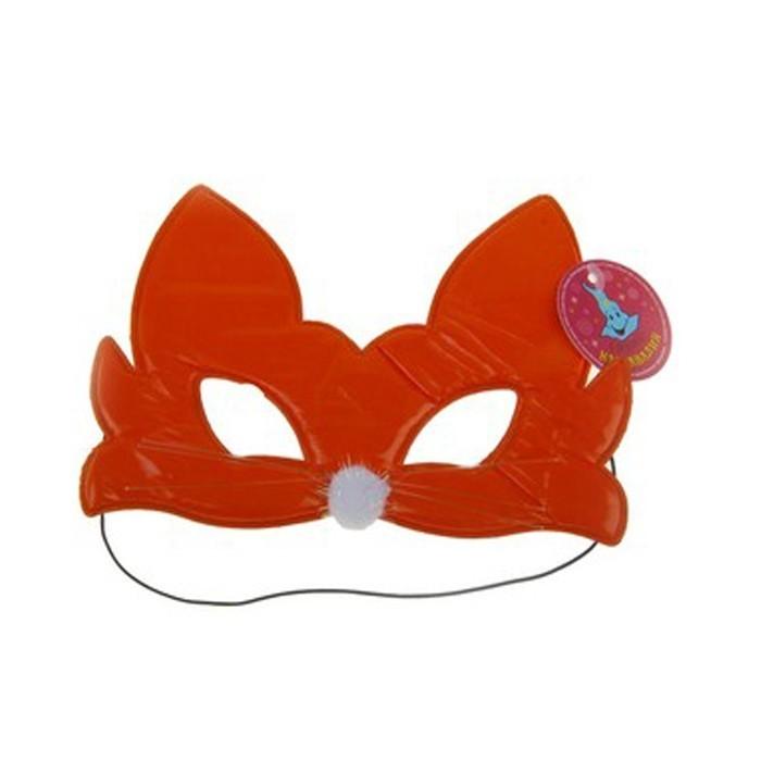 Оранжевая маска кошечки (UNI) плюшевая маска зайки uni