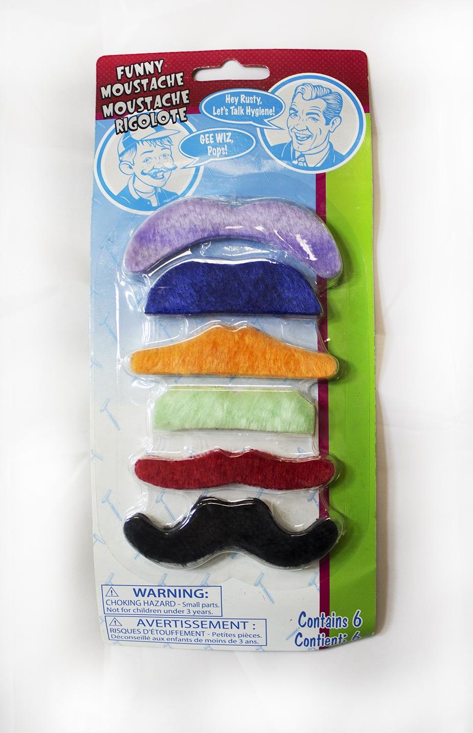 Набор цветных усов 6 шт - Борода и усы