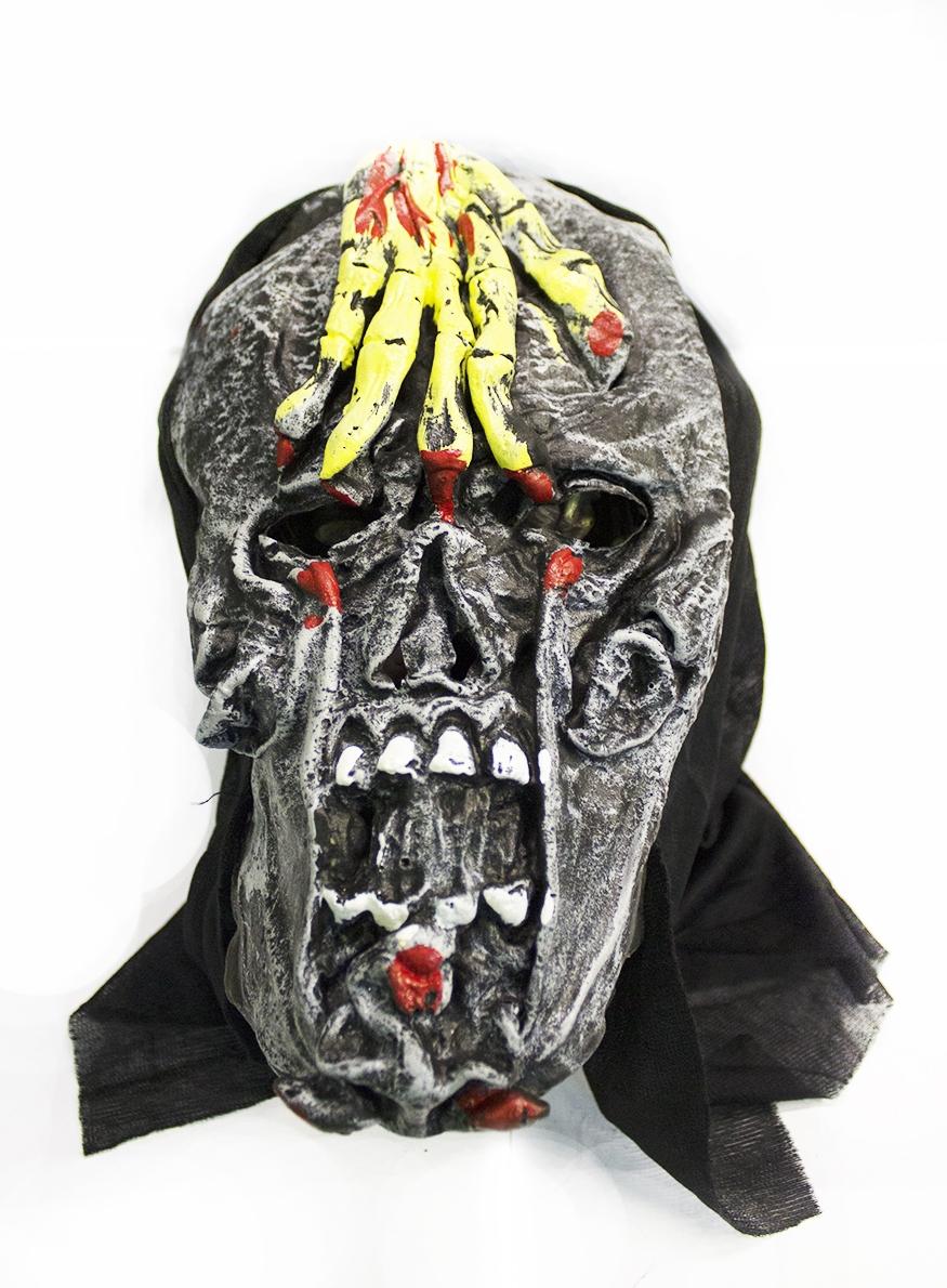 Маска черепа с рукой (UNI) маска черепа с рукой uni