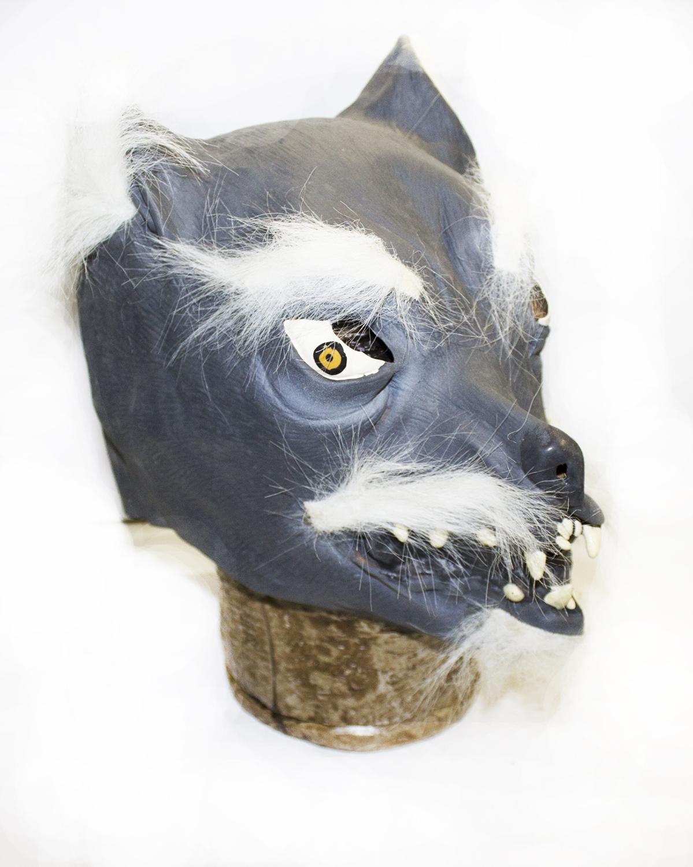 Латексная маска волка (UNI) плащ и маска штурмовик uni