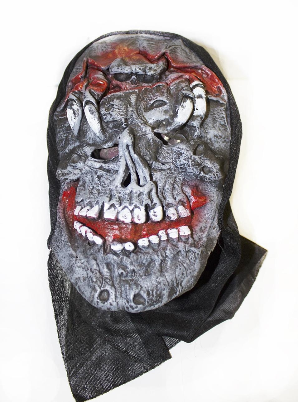 Латексная маска черепа (UNI) маска черепа с рукой uni
