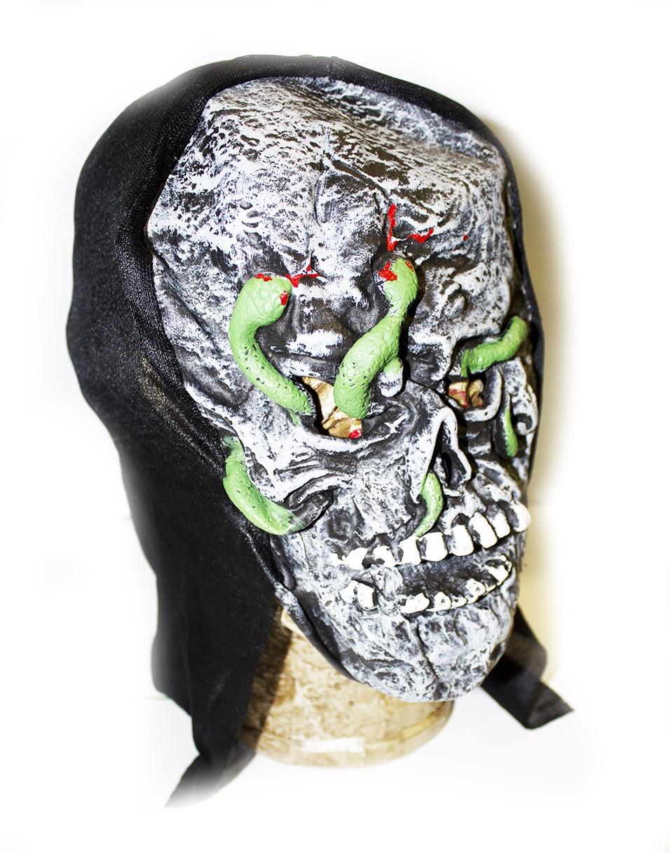 Маска черепа со змеями (UNI) маска черепа с рукой uni
