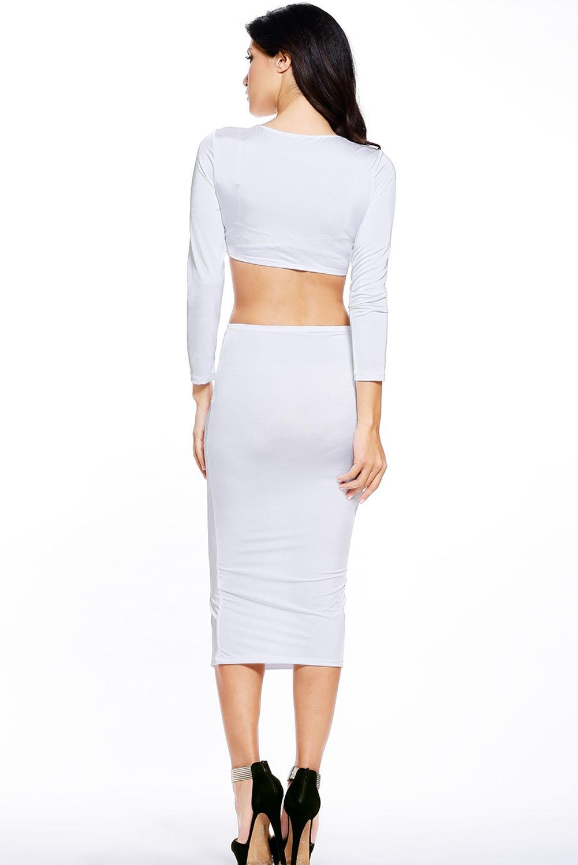 Купить белый костюм с юбкой