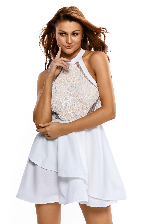 Платье с кружевом белое (42-44) пижама жен mia cara майка шорты botanical aw15 ubl lst 264 р 42 44 1119503