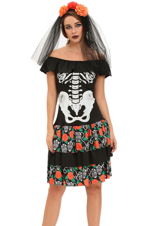 Платье Цветочный скелет (42) от Vkostume