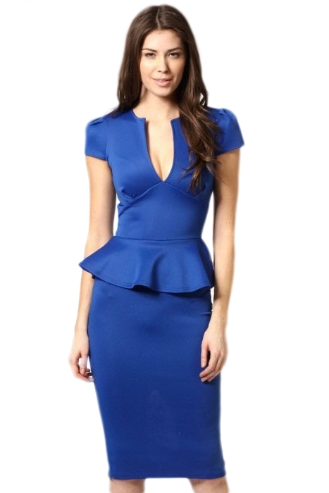 Синее элегантное платье (44) от Vkostume