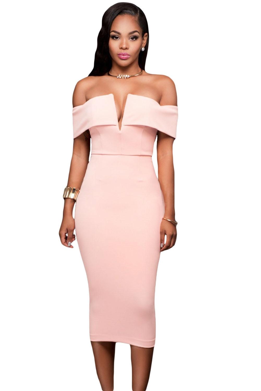 где купить Светло-розовое платье (44-46) по лучшей цене