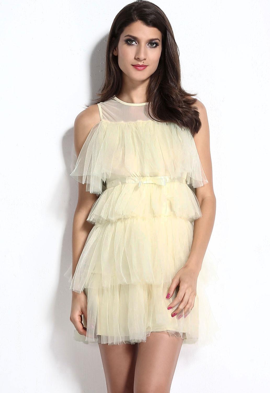 Многослойное пышное платье (44)
