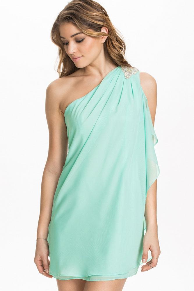 Мятное платье-туника (46)