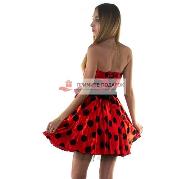 Платье Красное В Черный Горох Купить В