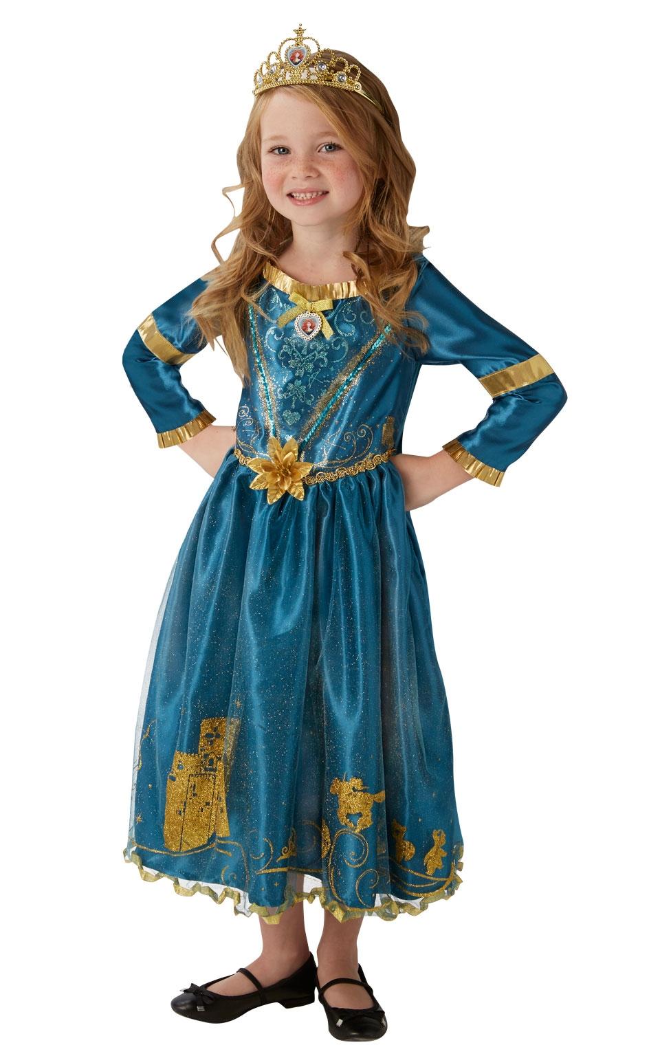 Костюм принцессы Мериды Disney (M) mattel храбрая сердцем с фигурками трансформерами принцессы disney