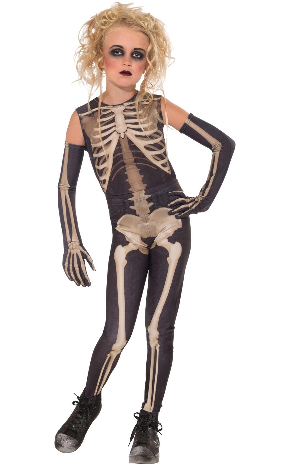 Костюм девочки скелета (34) детский костюм озорного клоуна 34