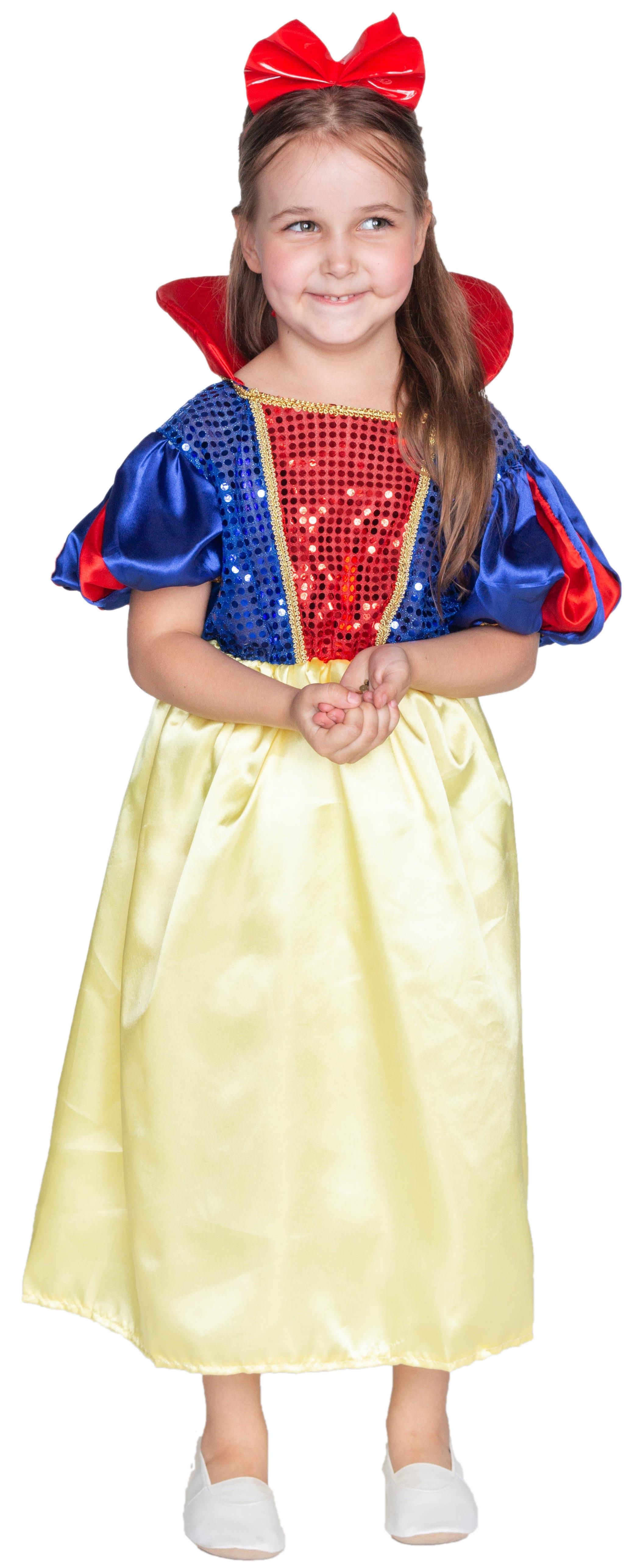 Костюм принцессы диснея Белоснежки (32) красный корсет с пайетками и юбкой 50 52