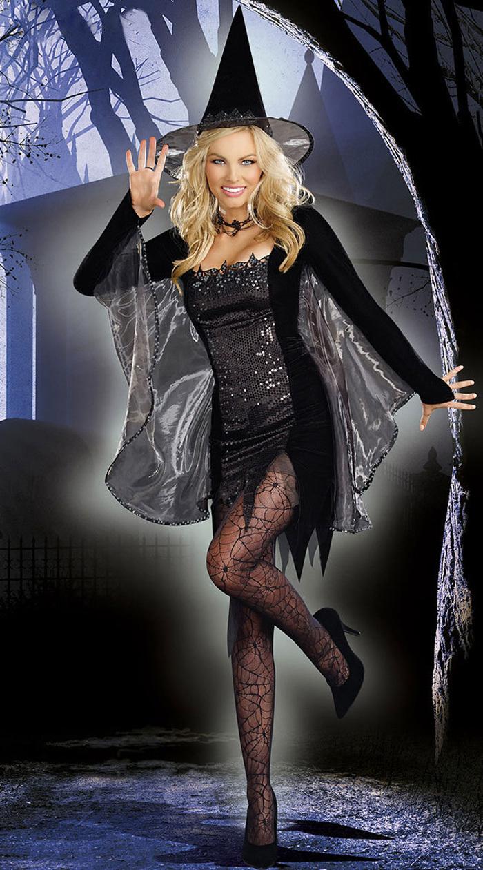 Костюм Черной ведьмы (42-44) костюм сексуальной прислуги le frivole costumes костюм сексуальной прислуги