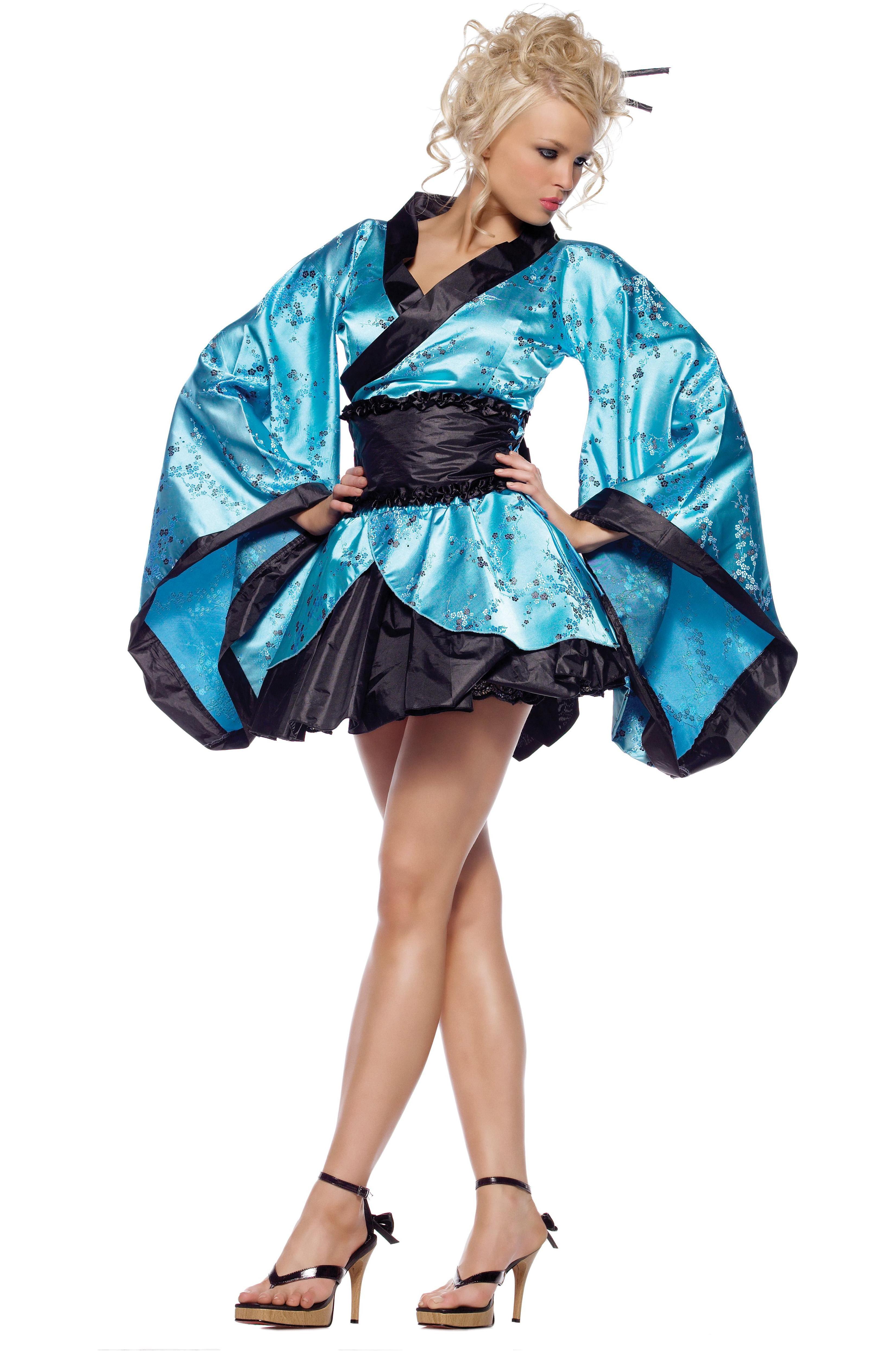 Костюм Загадочной Гейши в голубом кимоно (46) продам восточный костюм в минске