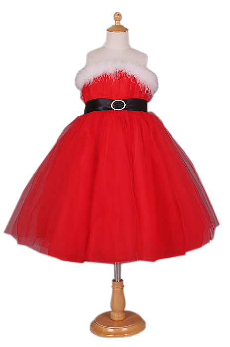 Детское платье внучки Санты (36) -  Новогодние костюмы