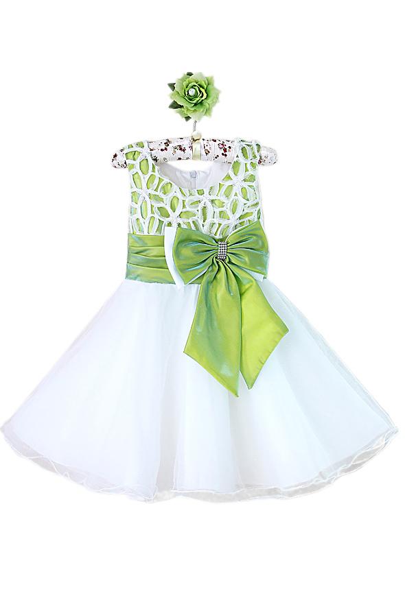 Бело-зеленое платье (32)