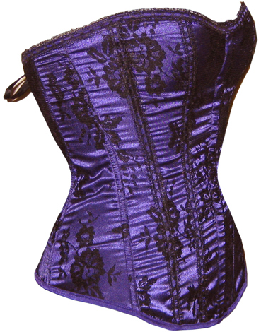 Черно-фиолетовый корсет (42-44) -  Костюмы больших размеров