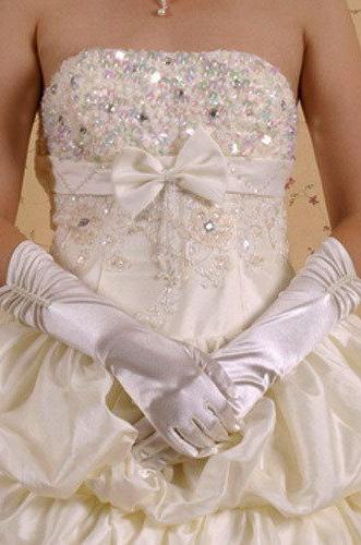 Жемчужные атласные перчатки (UNI) - Перчатки и рукава