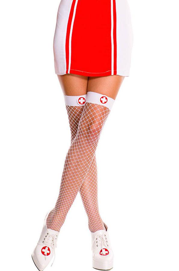 Чулки медсестры в сетку (42-44) костюм медсестры с кружевом 42 44