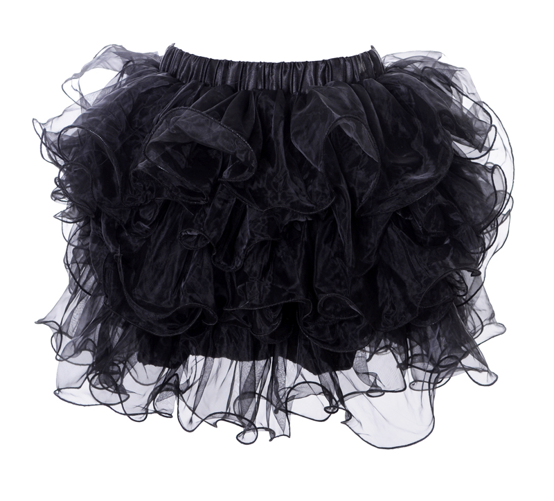 Юбка с воланами черная (48-50) -  Подъюбники и юбки