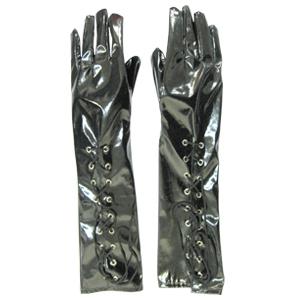 Перчатки виниловые со шнуровкой (46) - Перчатки и рукава, р.46