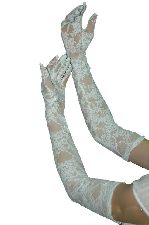 Изящные белые перчатки (46) - Перчатки и рукава, р.46