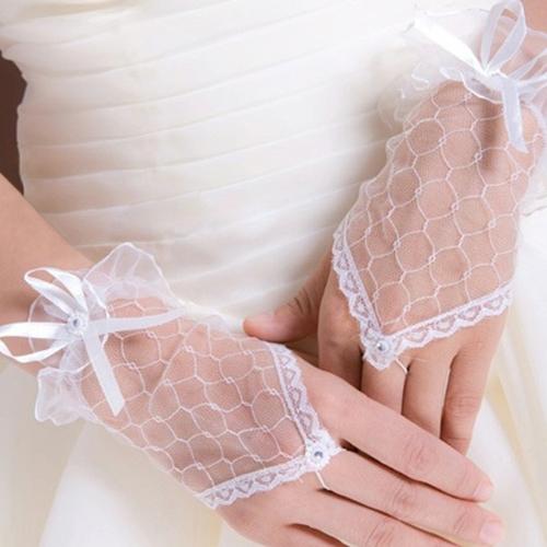 Ажурные перчатки без пальцев (46) - Перчатки и рукава, р.46