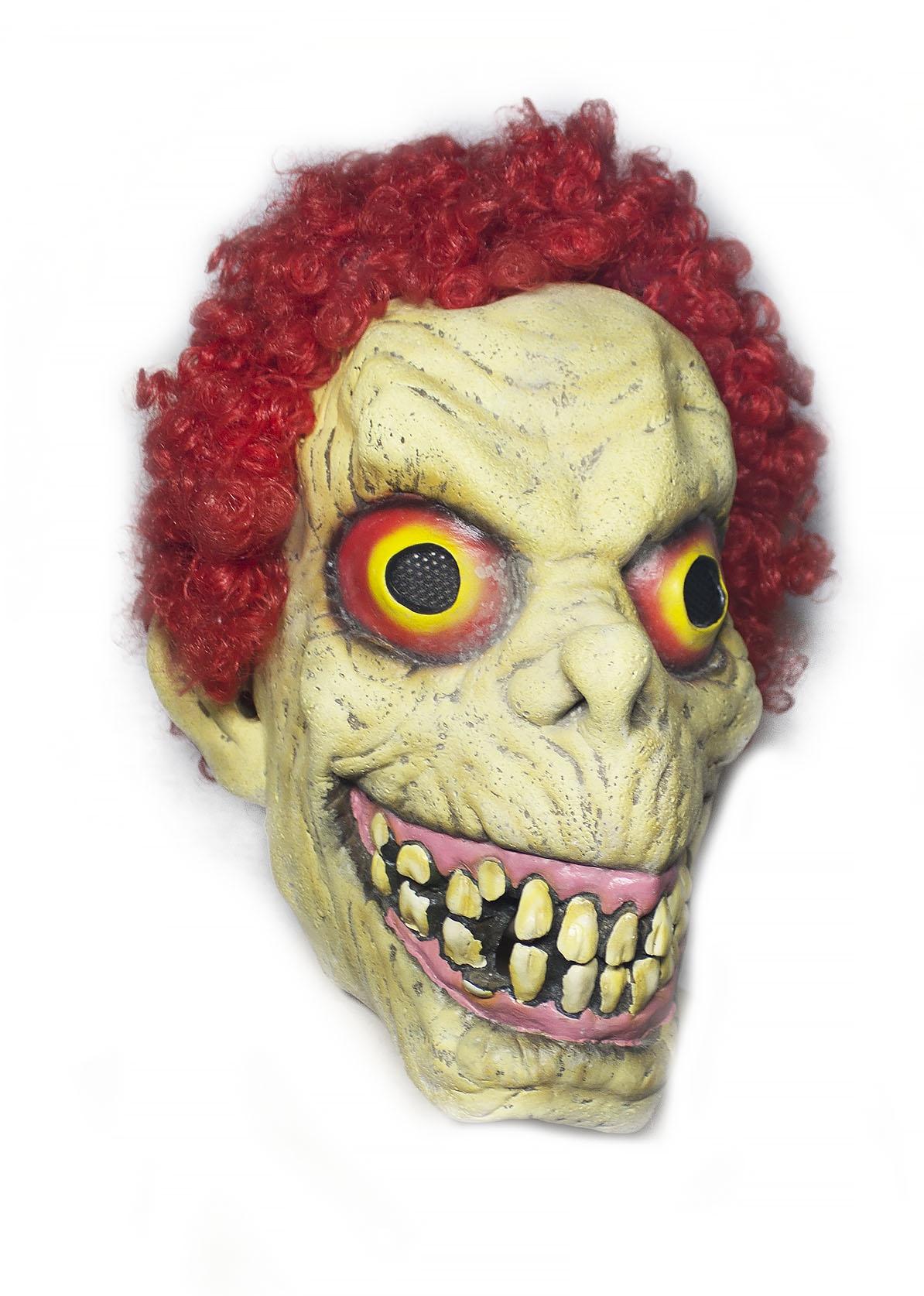 Латексная маска с красными волосами - Карнавальные маски
