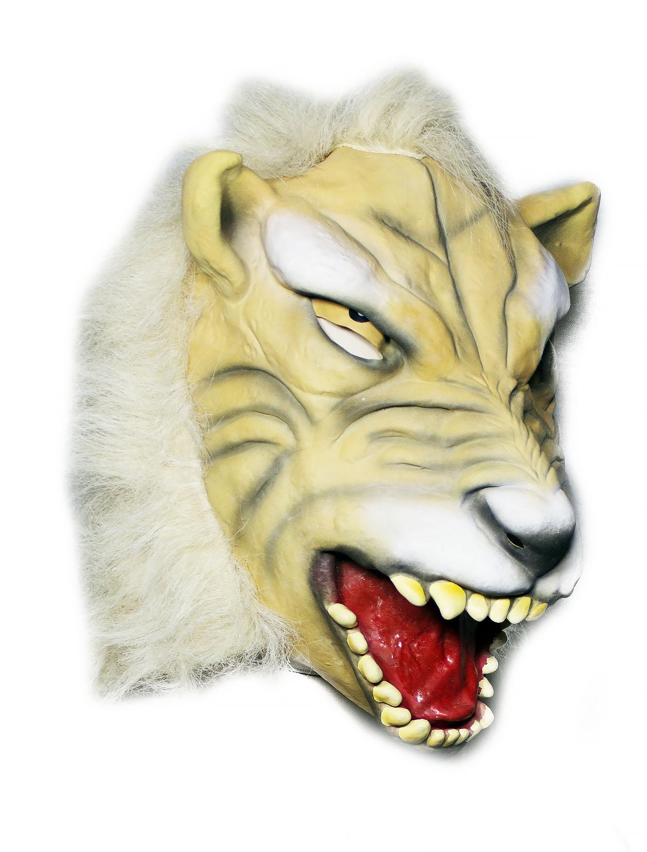 Латексная маска белого тигра (UNI) маска тигра розовая uni