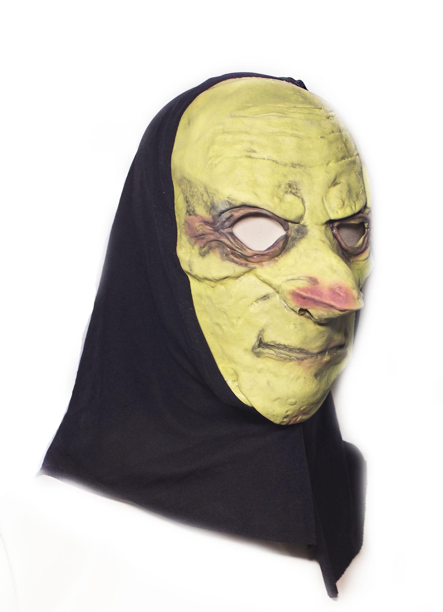 Латексная маска с капюшоном (UNI) плащ и маска черепашка ниндзя uni